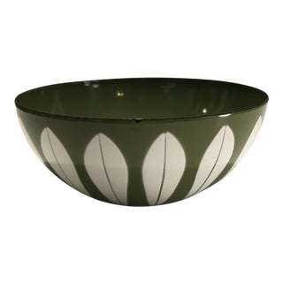 Catherineholm Enamel Lotus Leaf Bowl Green Avocado For Sale