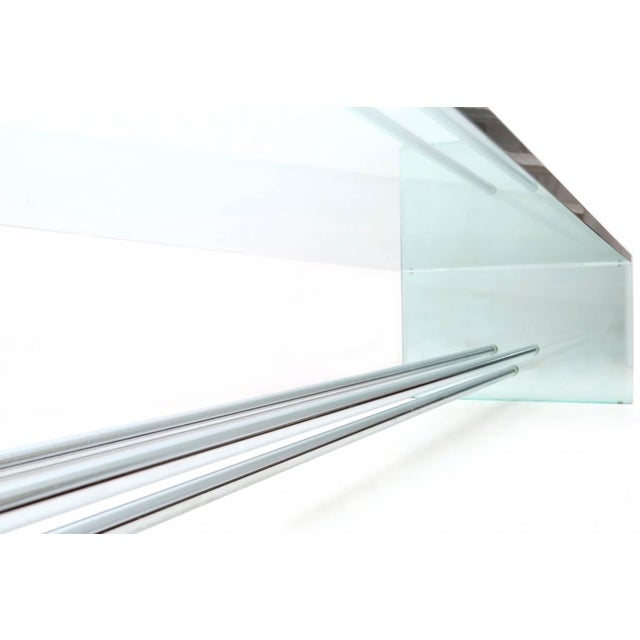 1970s Large Glass Coffee Table by Fontana Arte For Sale - Image 5 of 7