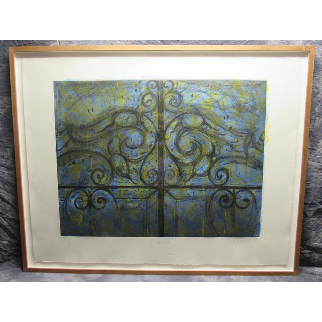 """Crommelynck Gate"" Lithograph Signed and Numbered by Jim Dine For Sale - Image 12 of 13"