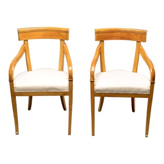 Pair of Biedermeier Style Armchairs For Sale