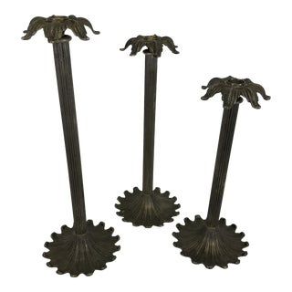 Silver Palm Tree Candle Holders For Sale