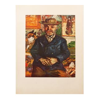 """1950s Vincent Van Gogh, """"Pere Tanguy"""" First Edition Vintage Lithograph Print For Sale"""