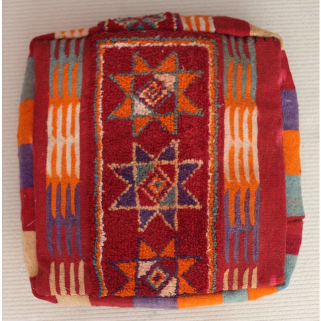 Vintage Moroccan Tribal Floor Pillow - Image 2 of 4