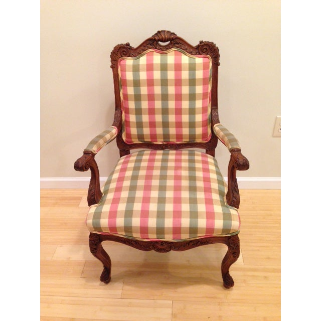 18th CenturyAntique French Louis XV Fauteuil Arm Chair For Sale - Image 13 of 13