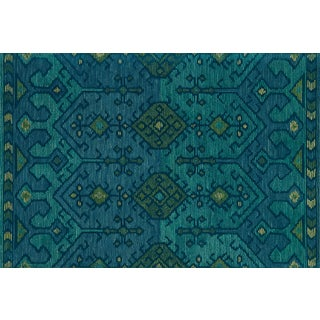 "Justina Blakeney X Loloi Rugs Gemology Rug, Green / Teal - 1'6""x1'6"" For Sale"