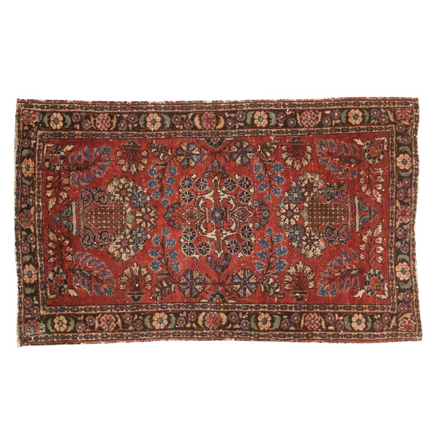 "Vintage Lilihan Rug - 2'8"" X 4'5"" For Sale"