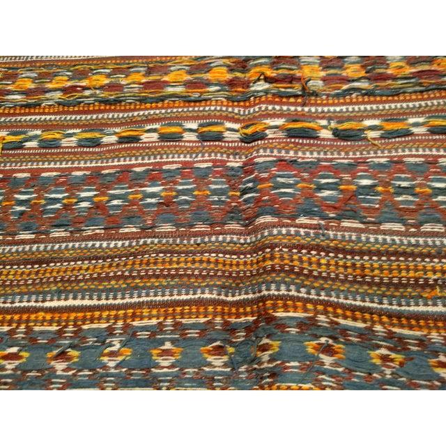 White Vintage Uzbek Kilim Rug - 3′7″ × 6′7″ For Sale - Image 8 of 10