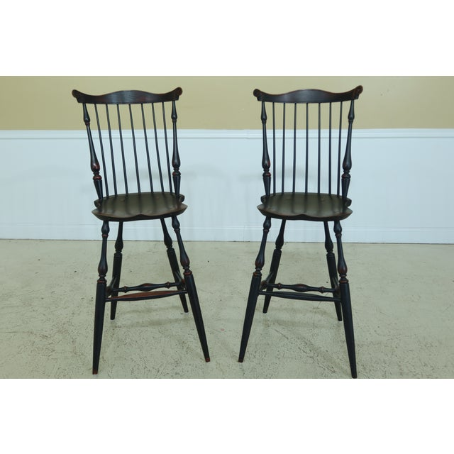 Windsor Style Fan Back Windsor Bar or Counter Chairs - a Pair For Sale - Image 12 of 12