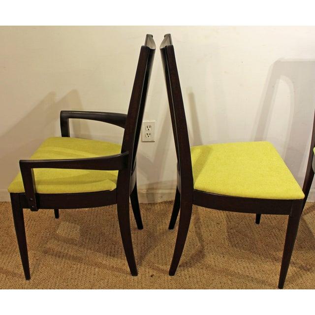 Broyhill Brasilia Mid-Century Danish Modern Brasilia Dark Walnut Dining Chairs #5 - Set of 6 For Sale - Image 4 of 11