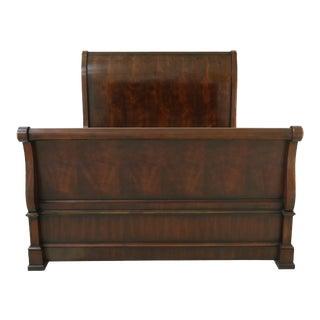 Ralph Lauren Queen Size Mahogany Regency Sleigh Bed For Sale