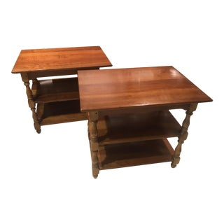 1950s Cherry Stickley End Tables - a Pair For Sale