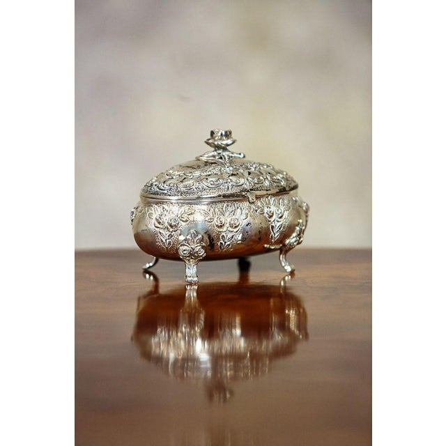 Mid 20th Century Mid 20th Century Silver Sugar Bowl For Sale - Image 5 of 9