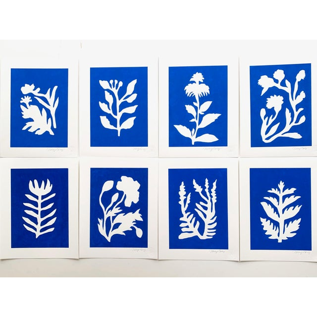 """This is part of a collection of paintings I created called """"Sunprints"""" based on the imagery of botanical cyanotype prints...."""