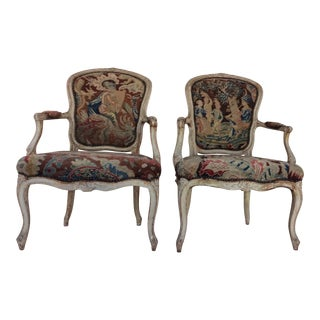 Louis XV Style Arm Chairs For Sale
