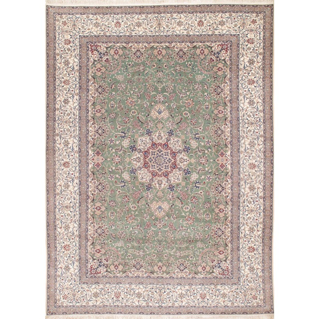 """Pasargad N Y Persian Nain Handmade Hand-Knotted Habibian Design - 8'4"""" X 11'7"""" For Sale"""