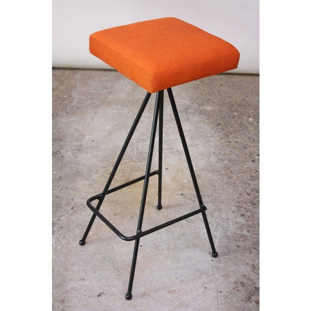 1950s Set of Four Adrian Pearsall #11 Iron Barstools For Sale - Image 5 of 11