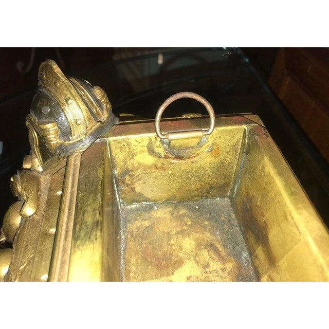 Gold Empire 19th Century Dore Bronze Jardinière or Planter Has Its Original Insert For Sale - Image 8 of 13