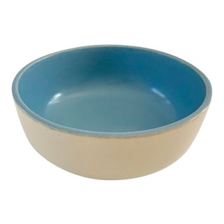 1940s Vintage Catalina Pottery Blue and White Bowl For Sale