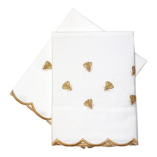 Scattered Bees Standard Pillowcases - a Pair For Sale