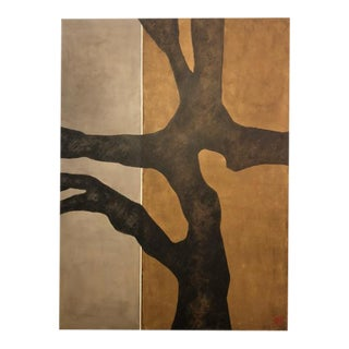 Abstract Branch- Tree Painting by Sidoli For Sale