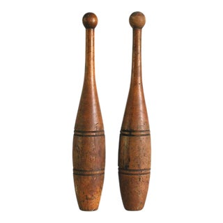 Antique Indian Clubs - A Pair
