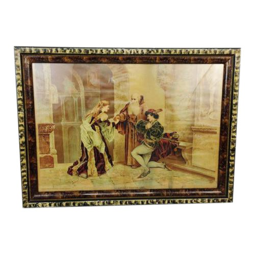 1894 Antique P.O. Vickery Marriage of Romeo and Juliet Art Print - Image 1 of 6