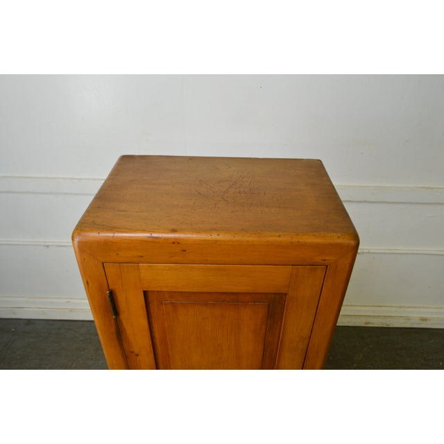 Country Country Antique 19th Century Poplar & Pine Chimney Cupboard From Lehigh Valley For Sale - Image 3 of 13