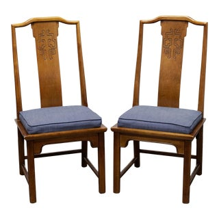 Century Chin Hua Raymond Sobota Asian Chinoiserie Dining Side Chairs - Pair 1 For Sale