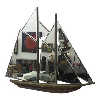 1930s Vintage Art Deco Nautical Ship Wall Mirror For Sale