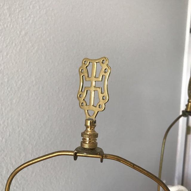 Blenko Mid-Century Cobalt Crackle Lamps - A Pair - Image 6 of 8