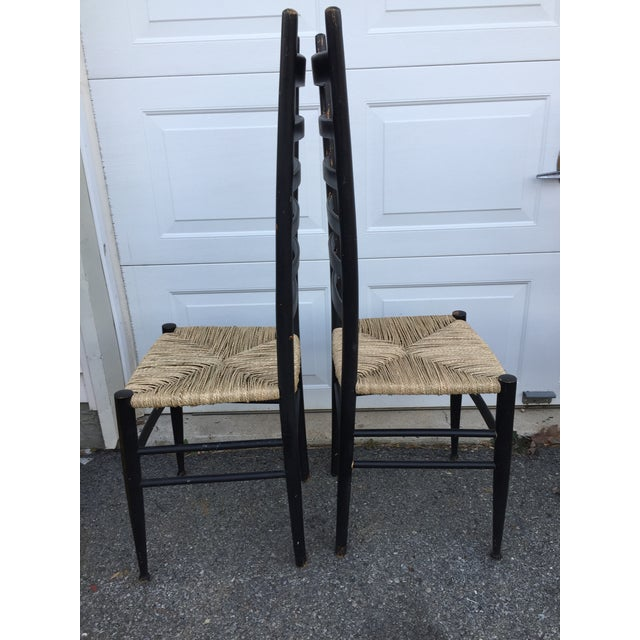 Gio Ponti Vintage Mid Century Italian Ladder Back Chair- A Pair For Sale - Image 4 of 11