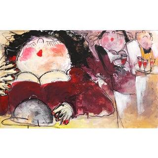 """""""Cabernet"""" Original Artwork by Gerdine Duijsens For Sale"""