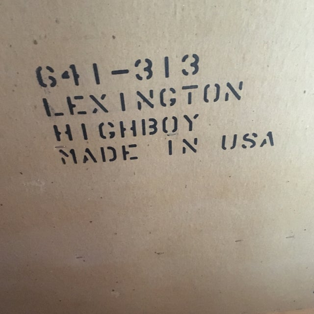 Brown 1950s Traditional Lexington Wooden Highboy For Sale - Image 8 of 13