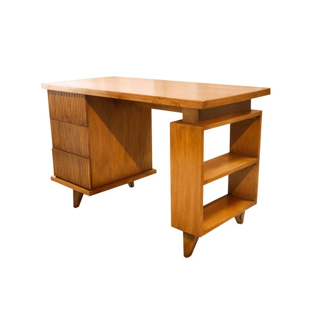 American Of Martinsville Bamboo Desk For Sale - Image 11 of 11