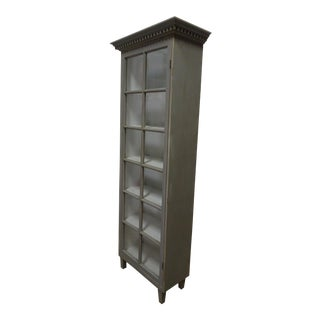 Gustavian Style Glass Door Cabinet For Sale