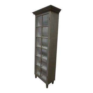 Gustavian Style Glass Door Cabinet