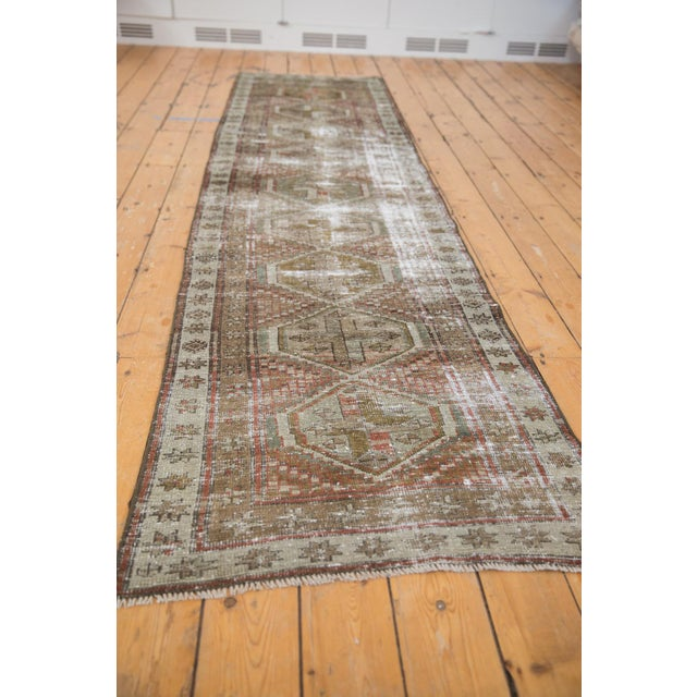 """Old New House Vintage Distressed Caucasian Rug Runner - 2'9"""" X 11'1"""" For Sale - Image 4 of 13"""