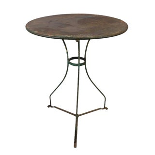 C. 1880 French Iron Bistro Table