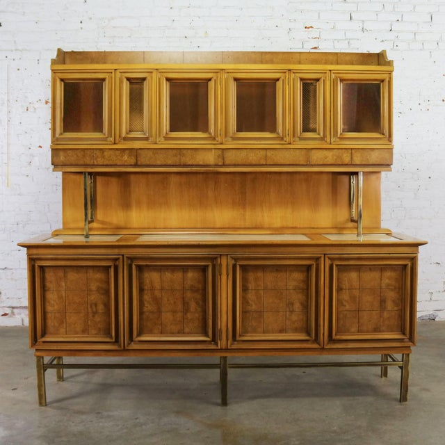 Mid Century Modern Credenza With Hutch Attributed to J. L. Metz Contempora Line For Sale - Image 13 of 13