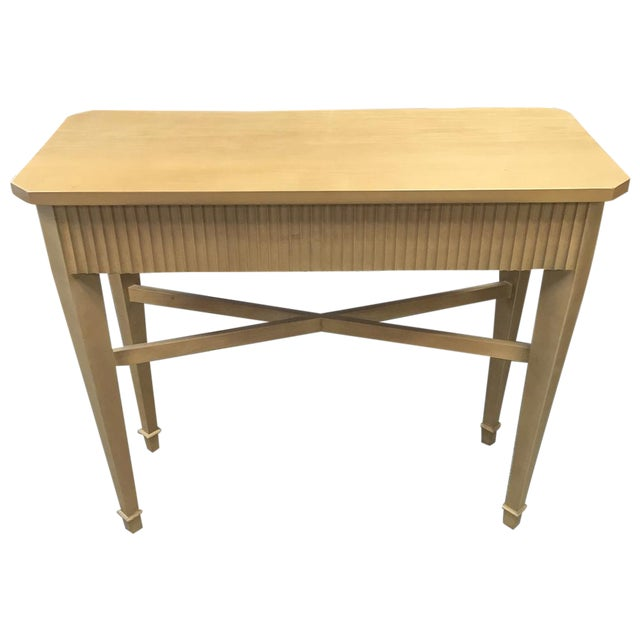 Nancy Corzine Tan Fluted Console Table - Image 1 of 11