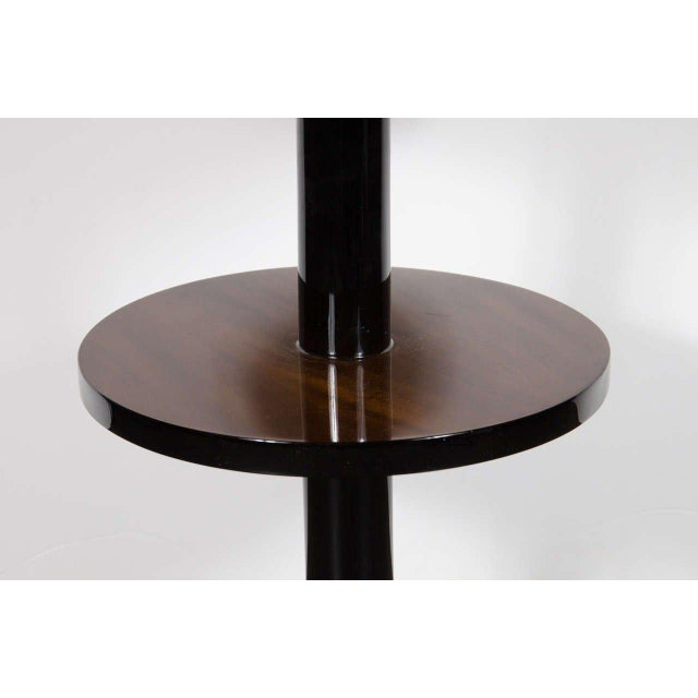 Machine Age Pair of Art Deco Three-Tier Column-Form Occasional Tables For Sale - Image 4 of 8