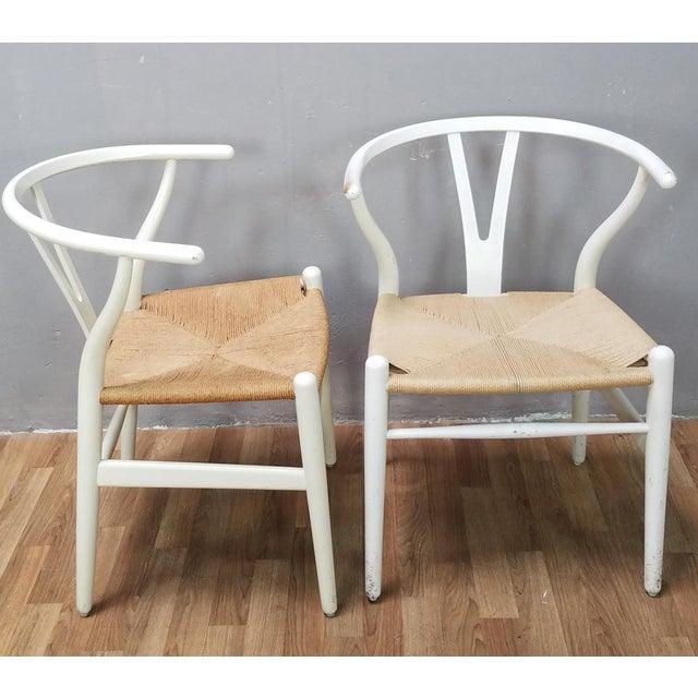 Danish Modern Mid-Century Danish Hans Wegner Wishbone Chairs - A Pair For Sale - Image 3 of 13