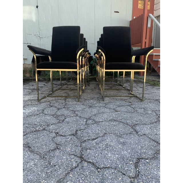 Metal Milo Baughman Style Dining Chairs- Set of 8 For Sale - Image 7 of 10