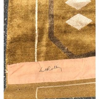 Signed Lucien Rollin Architectural Designer Tibetan Silk & Wool Rug Preview