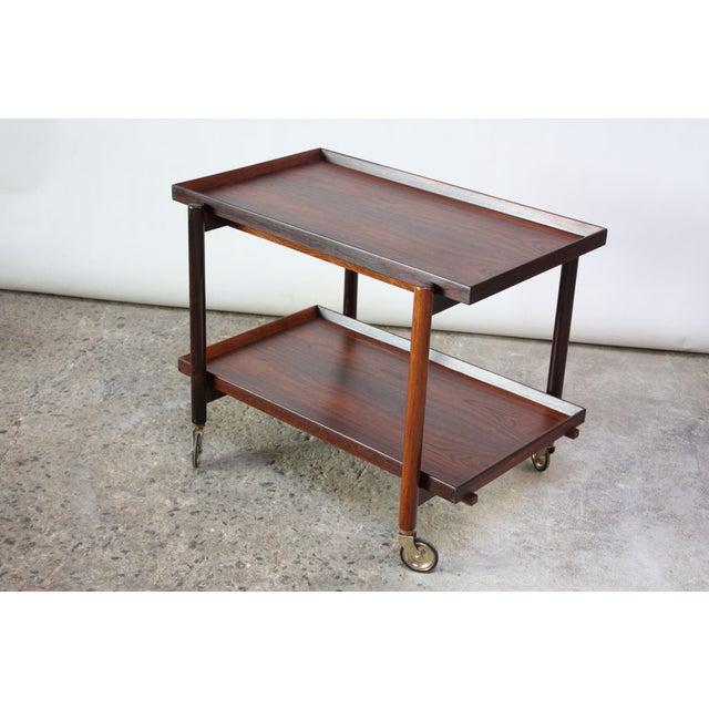 Poul Hundevad Vamdrup Poul Hundevad Rosewood Modular Bar Cart For Sale - Image 4 of 13