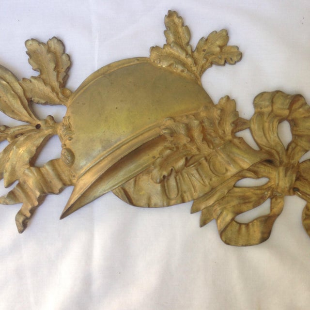 French Gilt Bronze Wall Plaque - Image 3 of 7