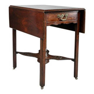 George III Mahogany Pembroke Table For Sale