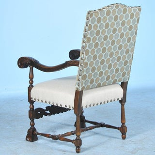 20th Century Antique Danish Baroque Carved Armchair Preview