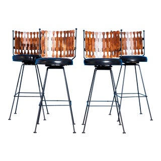 Mid-Century Modern Barstools by Arthur Umanoff - Set of 4 For Sale