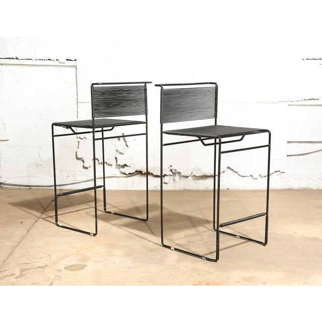 "Giandomenico Belotti for Fly Line ""Spaghetti"" Bar Stools - A Pair - Image 2 of 7"